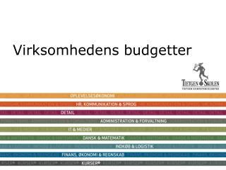 Virksomhedens budgetter