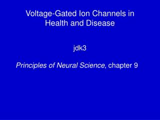 Voltage-Gated Ion Channels in Health and Disease