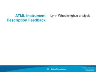 ATML Instrument Description Feedback