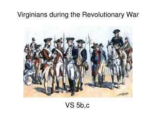 Virginians during the Revolutionary War