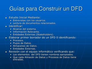 Guías para Construir un DFD