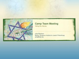 Camp Team Meeting