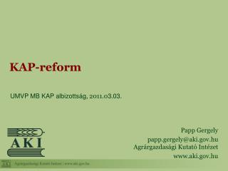KAP-reform