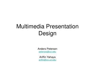 Multimedia Presentation Design