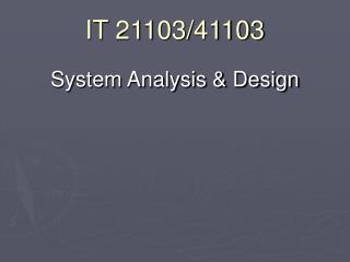 IT 21103/41103