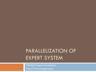 Parallelization of Expert System