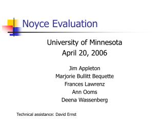 Noyce Evaluation