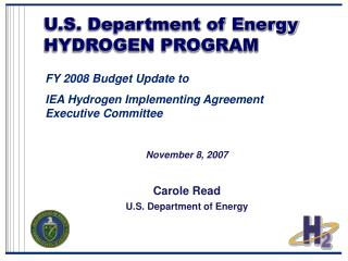 U.S. Department of Energy HYDROGEN PROGRAM