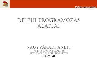 Delphi programozás alapjai