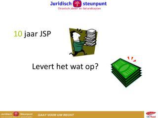 10  jaar JSP