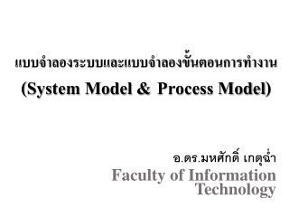 แบบจำลอง ระบบและแบบจำลองขั้นตอนการทำงาน (System  Model & Process Model )