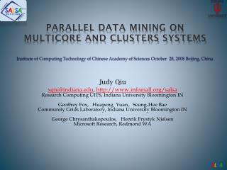 parallel data mining on  multicore and clusters Systems