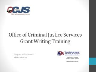 Office of Criminal Justice Services Grant Writing Training