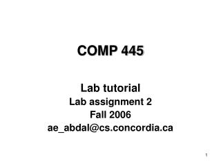 COMP 445
