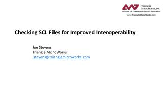 Checking SCL Files for Improved Interoperability