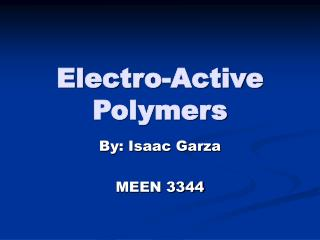 Electro-Active Polymers