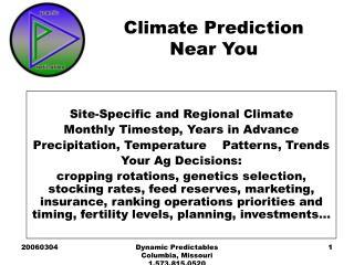 Climate Prediction  Near You