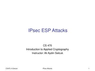 IPsec ESP Attacks