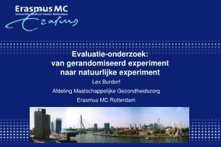 Evaluatie-onderzoek:  van gerandomiseerd experiment  naar natuurlijke experiment