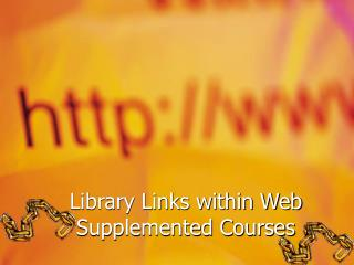 Library Links within Web Supplemented Courses