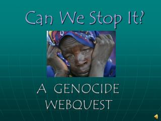 A  Genocide WebQuest