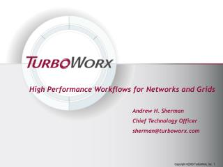 High Performance Workflows for Networks and Grids