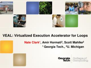 VEAL: Virtualized Execution Accelerator for Loops