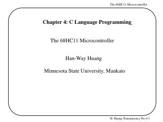 Chapter 4: C Language Programming
