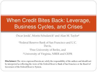 When Credit Bites Back: Leverage, Business Cycles, and Crises