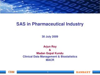 SAS in Pharmaceutical Industry