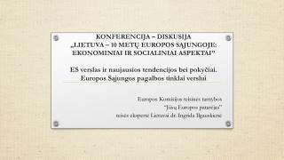 Europos Komisijos teisin?s tarnybos  � J ?s?  E uropos  p atar?jas�