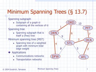 Minimum Spanning Trees ( § 13.7)