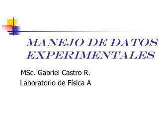 Manejo de datos experimentales