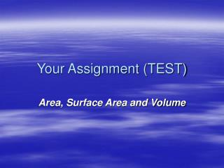 Your Assignment (TEST)