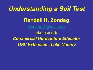 Understanding a Soil Test