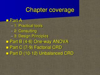 Chapter coverage