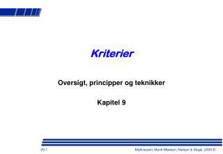 Kriterier