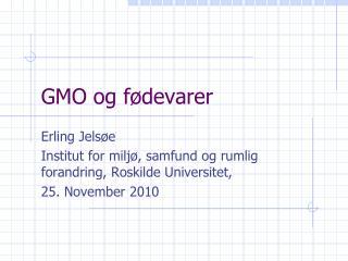 GMO og fødevarer
