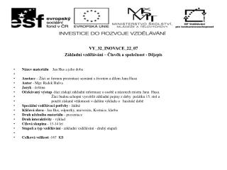 VY_32_INOVACE_22_07 Základní vzdělávání – Člověk a společnost - Dějepis