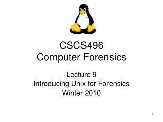 CSCS496 Computer Forensics