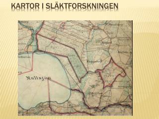 Kartor i Sl�ktforskningen