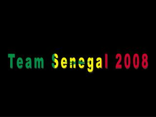 Team Senegal 2008