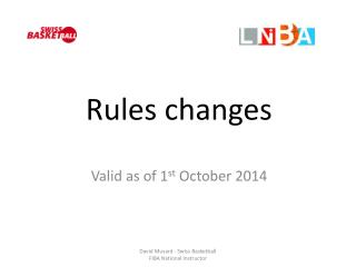 Rules  changes