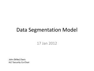 Data Segmentation Model