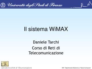 Il sistema WiMAX