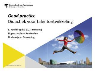 Good  practice Didactiek voor talentontwikkeling