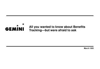 All you wanted to know about Benefits  Tracking but were afraid to ask