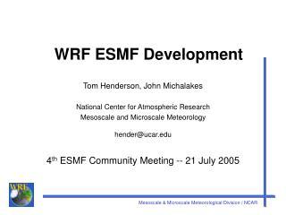 WRF ESMF Development