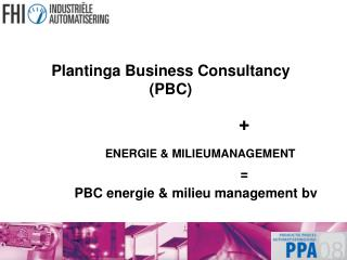 Plantinga Business Consultancy (PBC)