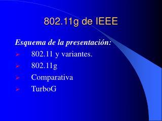 802.11g de IEEE